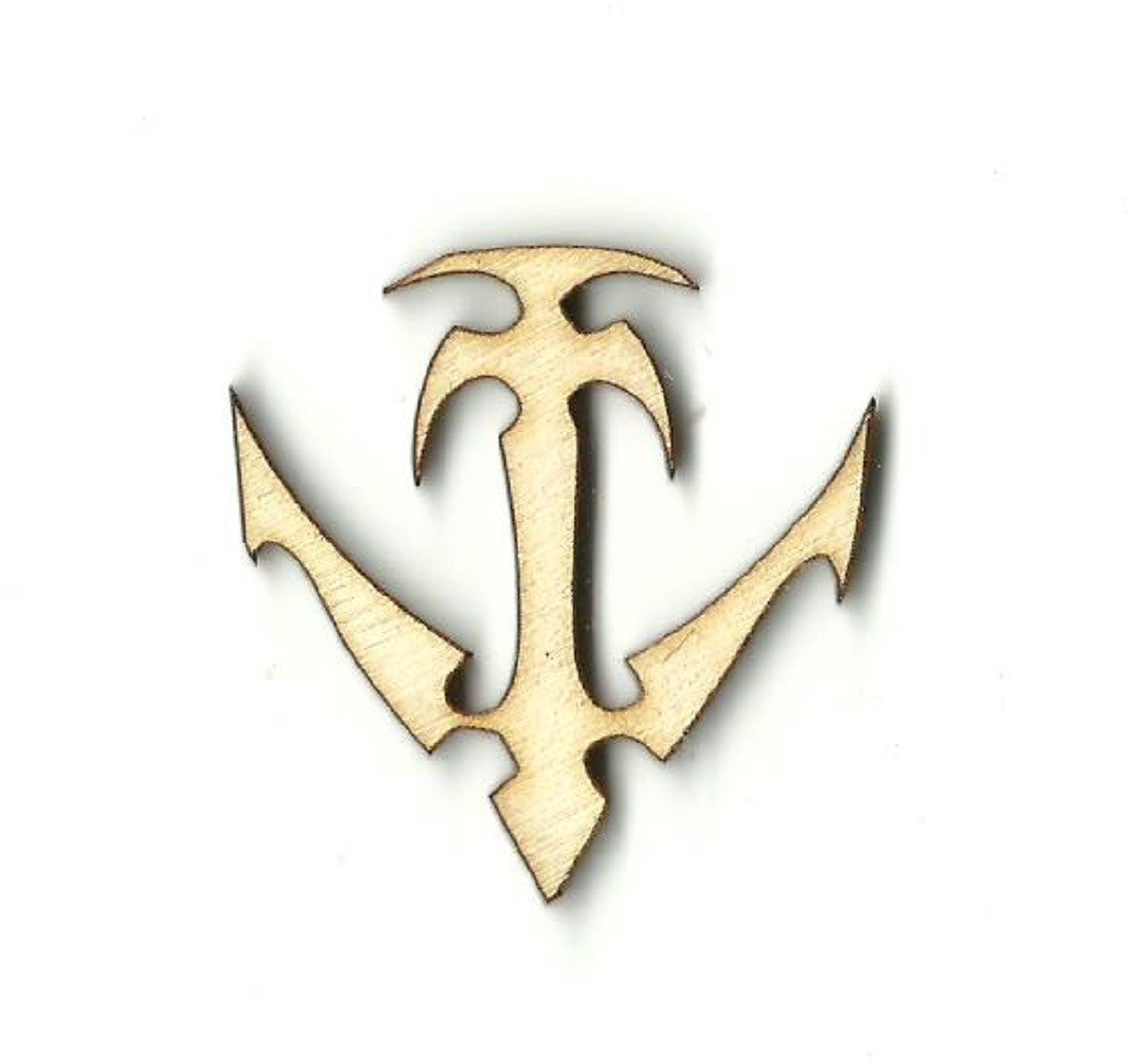 Anchor - Laser Cut Wood Shape Anc7 Craft Supply