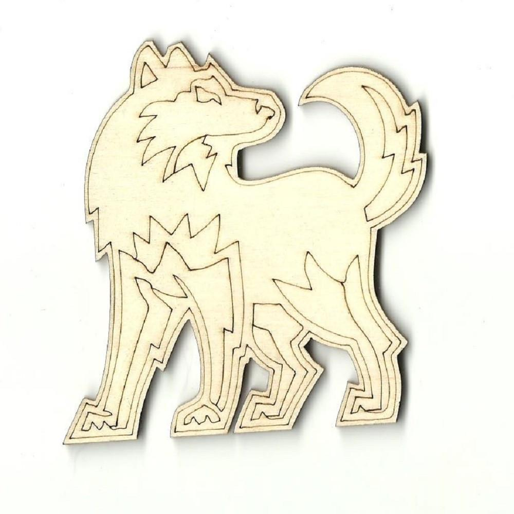 Wolf - Laser Cut Wood Shape Anml10 Craft Supply
