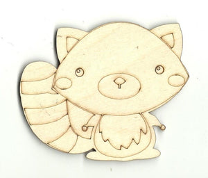 Raccoon - Laser Cut Wood Shape Anml19 Craft Supply