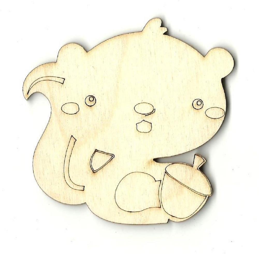 Squirrel - Laser Cut Wood Shape Anml21 Craft Supply