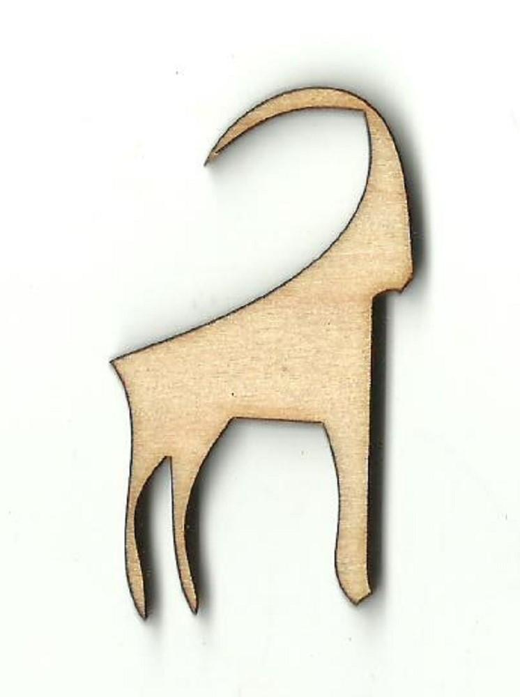Mountain Goat - Laser Cut Wood Shape Anml56 Craft Supply