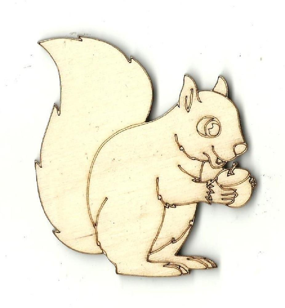 Squirrel - Laser Cut Wood Shape Anml22 Craft Supply