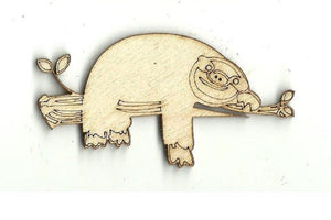 Sloth On A Tree Branch - Laser Cut Wood Shape Anml25 Craft Supply