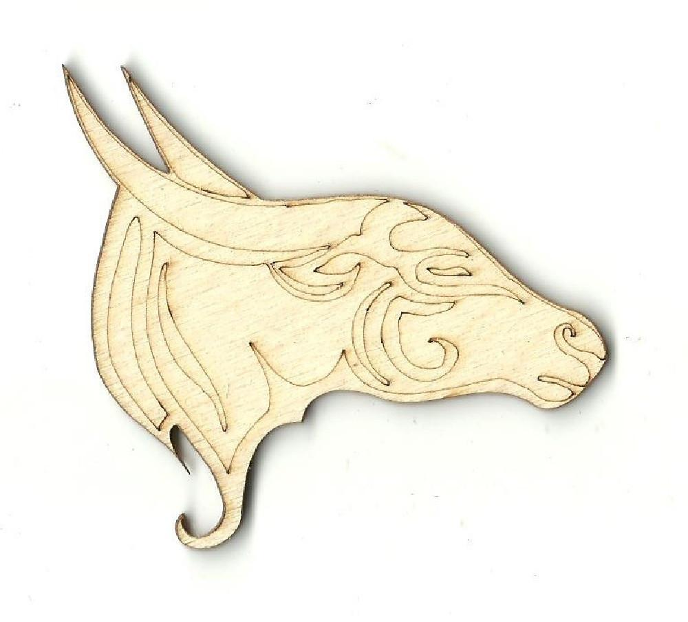 Water Buffalo - Laser Cut Wood Shape Anml27 Craft Supply