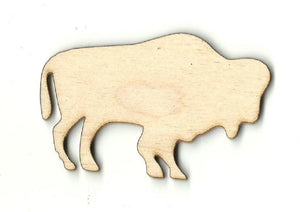 Bison Buffalo - Laser Cut Wood Shape Anml31 Craft Supply
