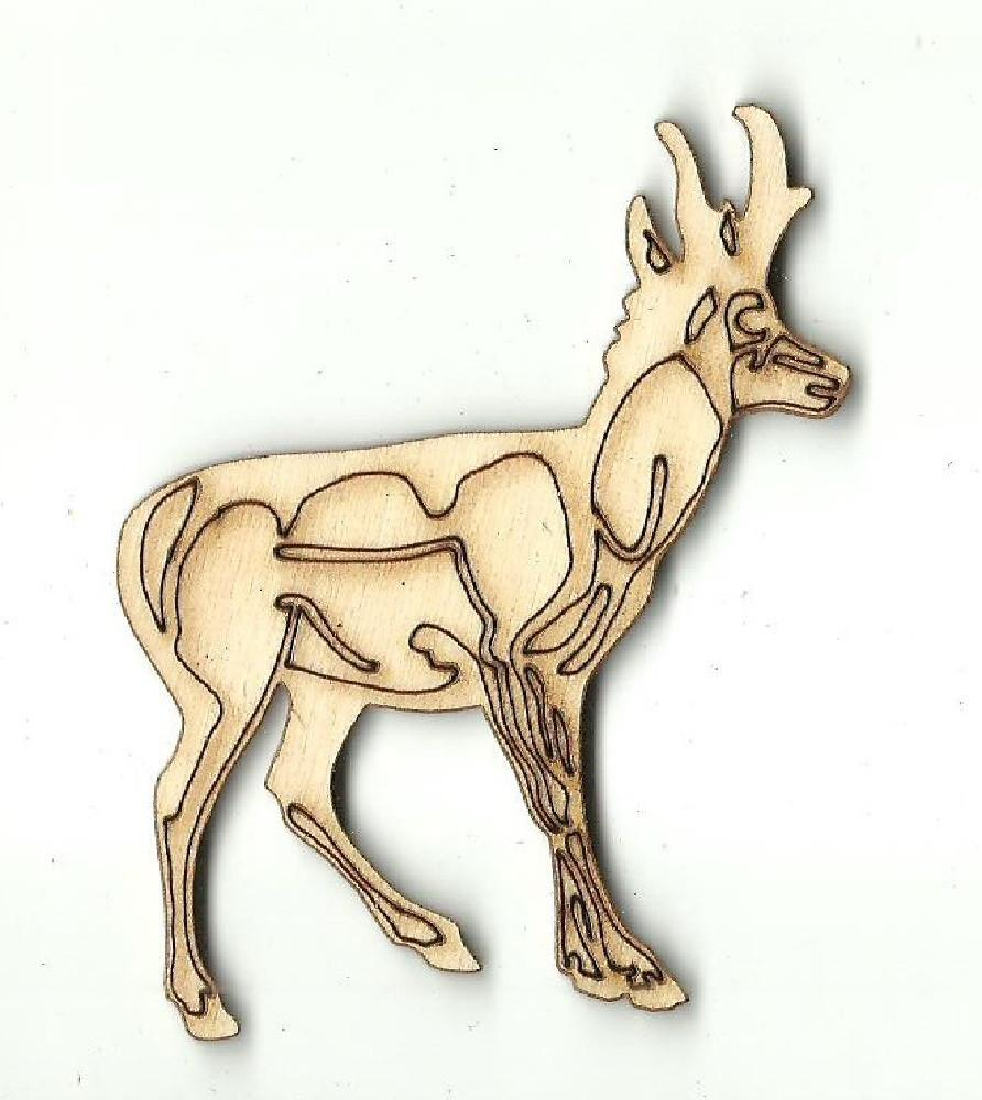 Antelope - Laser Cut Wood Shape Anml78 Craft Supply