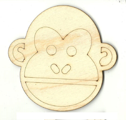 Monkey - Laser Cut Wood Shape APE12
