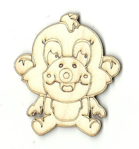 Monkey - Laser Cut Wood Shape Ape1 Craft Supply