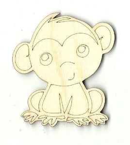 Monkey - Laser Cut Wood Shape Ape2 Craft Supply