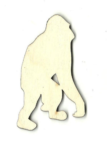 Chimpanzee Monkey - Laser Cut Wood Shape Ape3 Craft Supply
