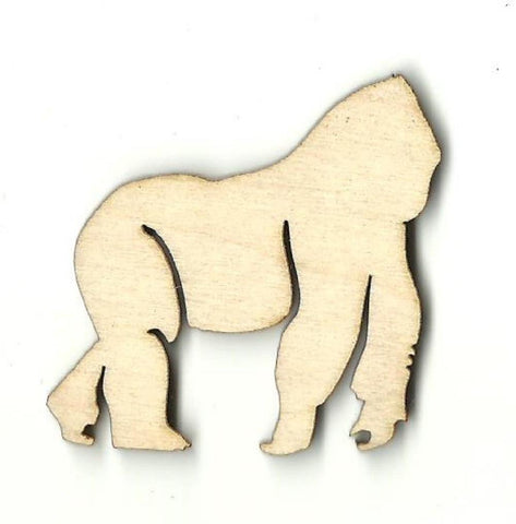 Gorilla - Laser Cut Wood Shape Ape5 Craft Supply