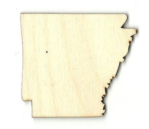Arkansas Us State - Laser Cut Wood Shape Craft Supply