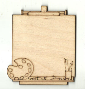 Artist Easel - Laser Cut Wood Shape ART6