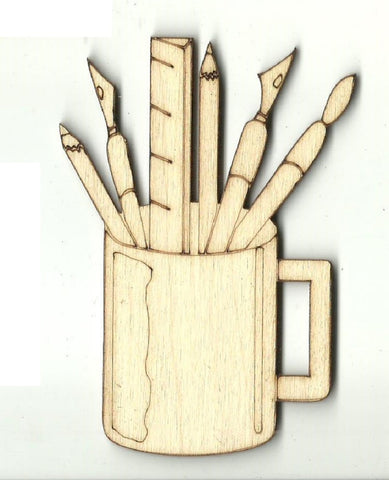 Can of Art Tools - Laser Cut Wood Shape ART9