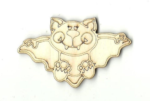 Bat - Laser Cut Wood Shape Bat2 Craft Supply