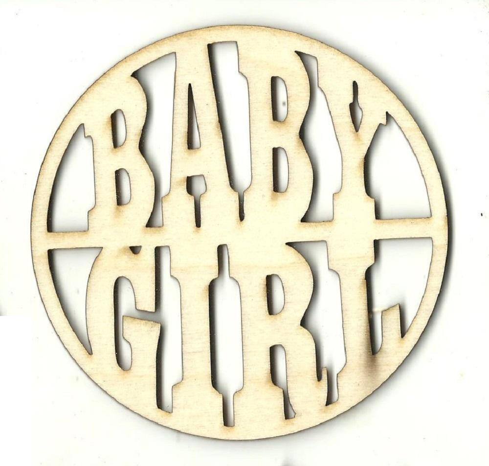 Baby Girl - Laser Cut Wood Shape Bby17 Craft Supply