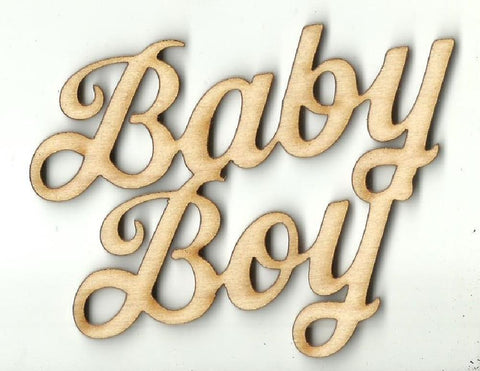 Baby Boy - Laser Cut Wood Shape Bby38 Craft Supply
