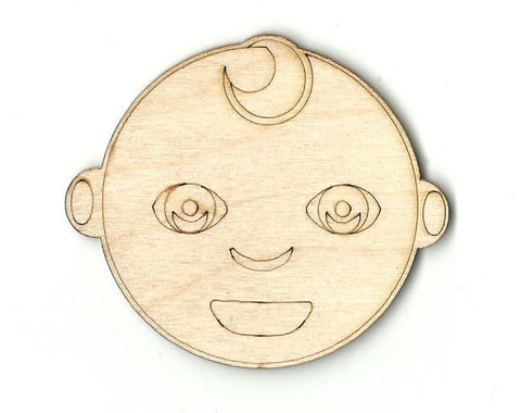 Baby Face - Laser Cut Wood Shape BBY3