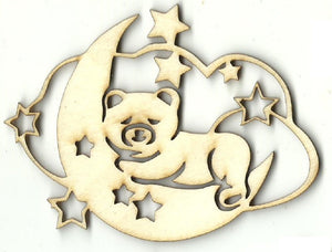 Bear in Cloud - Laser Cut Wood Shape BBY47