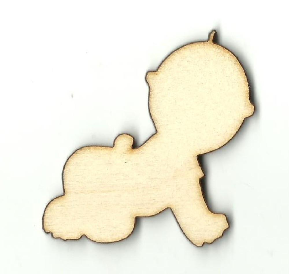 Crawling Baby - Laser Cut Wood Shape Bby28 Craft Supply