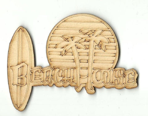 Beach House Sign - Laser Cut Wood Shape Bch20 Craft Supply