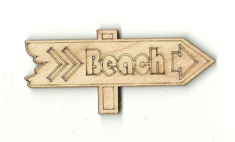Beach Sign - Laser Cut Wood Shape Bch8 Craft Supply