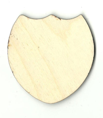 Badge Shield - Laser Cut Wood Shape Bdg20 Craft Supply