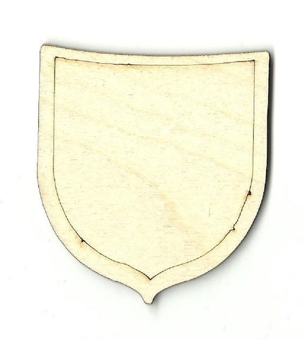 Badge Shield - Laser Cut Wood Shape Bdg1 Craft Supply