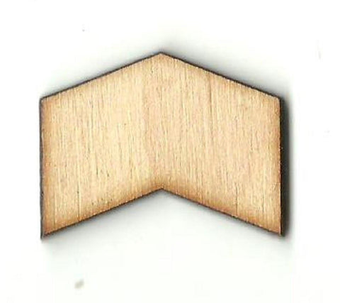 Chevron Badge - Laser Cut Wood Shape Bdg18 Craft Supply