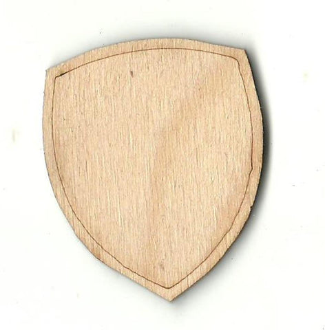 Badge - Laser Cut Wood Shape Bdg22 Craft Supply
