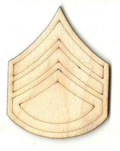 Chevron Medal Badge - Laser Cut Wood Shape Bdg23 Craft Supply