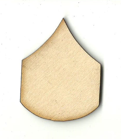 Badge - Laser Cut Wood Shape BDG25