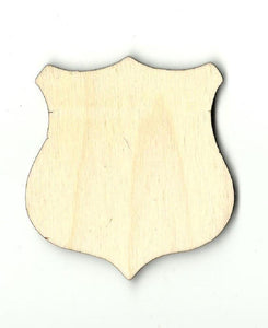 Badge Shield - Laser Cut Wood Shape Bdg21 Craft Supply