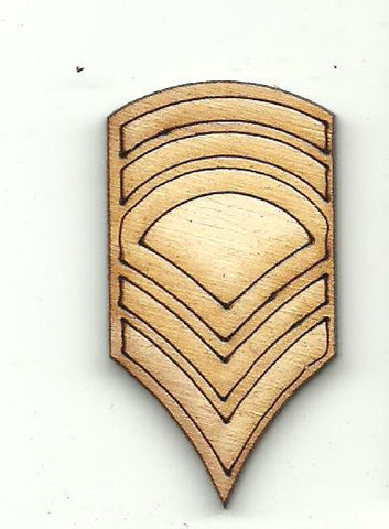 Badge Patch - Laser Cut Wood Shape BDG29