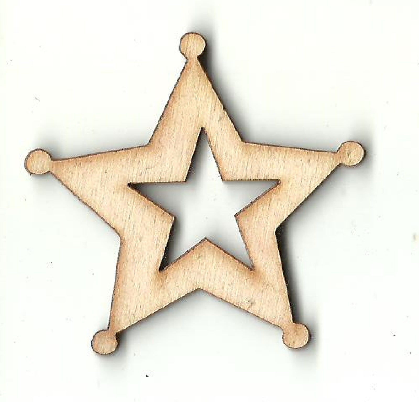 Sheriff Badge - Laser Cut Wood Shape BDG31