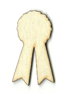 Prize Ribbon Badge - Laser Cut Wood Shape Bdg17 Craft Supply