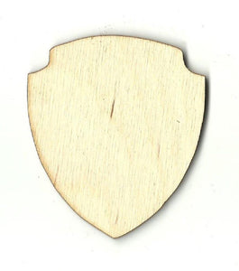 Badge Shield - Laser Cut Wood Shape Bdg7 Craft Supply