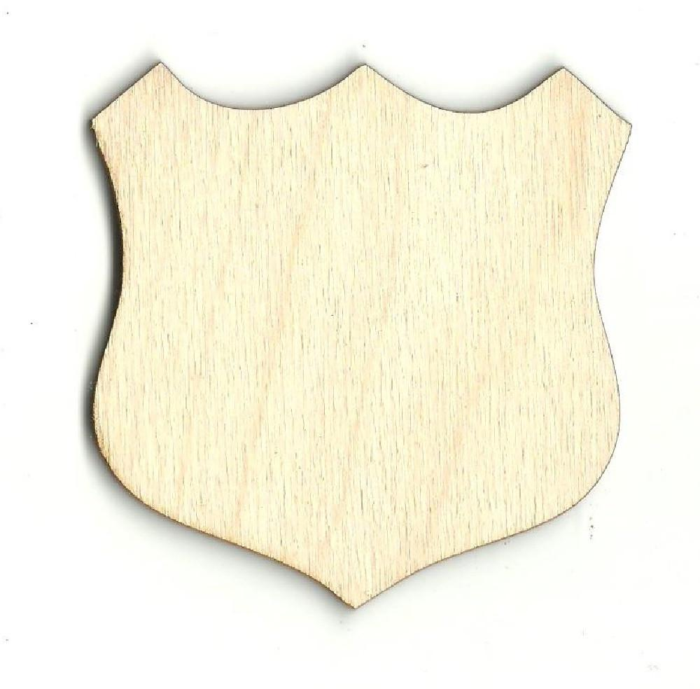 Badge Shield - Laser Cut Wood Shape Bdg8 Craft Supply