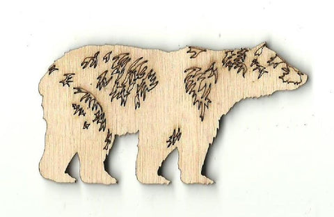 Bear - Laser Cut Wood Shape BER10