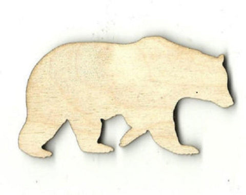 Black Bear - Laser Cut Wood Shape Ber11 Craft Supply