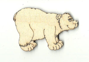 Bear - Laser Cut Wood Shape Ber12 Craft Supply