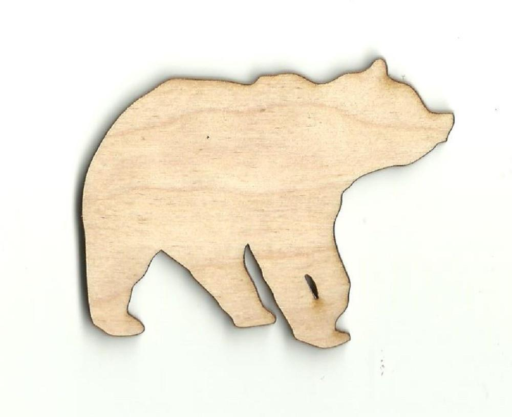 Bear - Laser Cut Wood Shape Ber14 Craft Supply