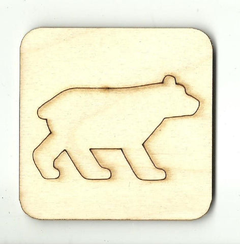 Bear - Laser Cut Wood Shape BER44