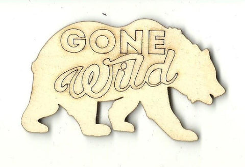 Bear - Laser Cut Wood Shape BER45