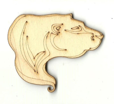 Polar Bear - Laser Cut Wood Shape Ber50 Craft Supply