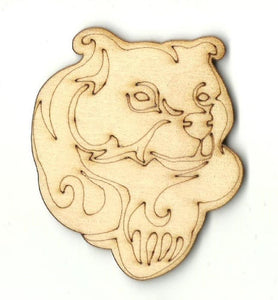 Bear - Laser Cut Wood Shape Ber54 Craft Supply