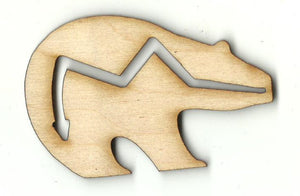 Bear - Laser Cut Wood Shape BER78