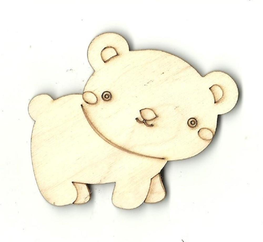 Bear - Laser Cut Wood Shape Ber9 Craft Supply