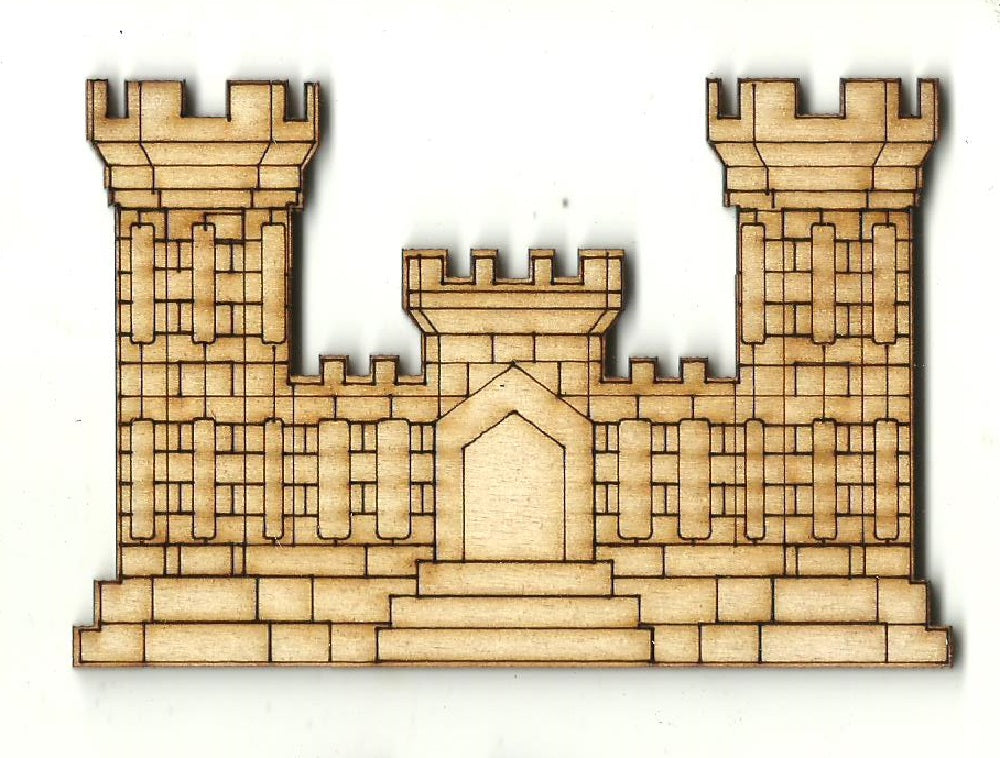 Castle - Laser Cut Wood Shape BLD100