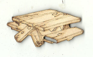 Picnic Table - Laser Cut Wood Shape BLD103